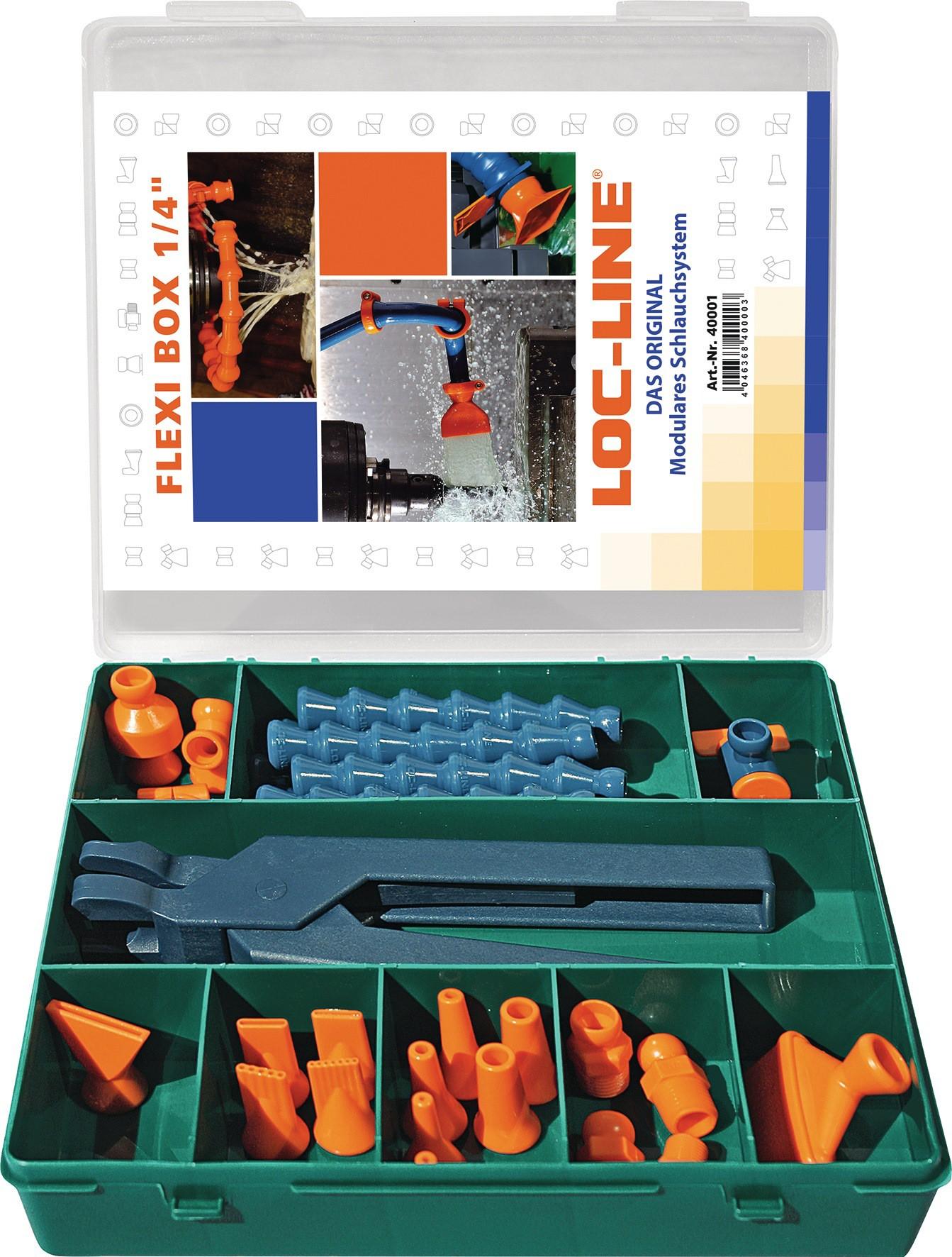 LOC-LINE L40415 Kühlmittelgelenkschlauchset Größe 1//4 Zoll  8 teilig