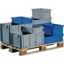 Transportbehälter L400xB300xH170mm grau PP Durchfassgr.Seitenwände geschl.PROMAT