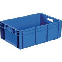 Transportbehälter L400xB300xH120mm blau PP Muschelgr.Seitenwände geschl.PROMAT