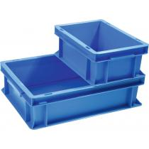 Transportbehälter L300xB200xH120mm blau PP Muschelgr.Seitenwände geschl.PROMAT