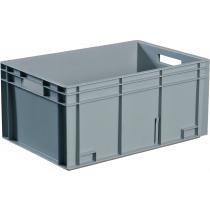 Transportbehälter L300xB200xH120mm grau PP Muschelgr.Seitenwände geschl.PROMAT