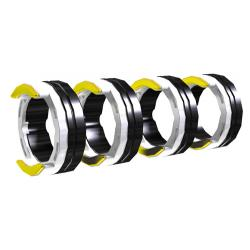 AL 4R 0.8 MM/0.03 INCH WHITE/YELLOW.  Antriebsrollenset, U-Nut für Aluminium  0.8 mm - 2.4 mm